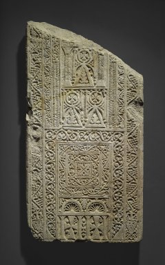 Coptic. Fragmentary Stela, 7th - 8th century C.E. Limestone, traces of plaster, 35 7/16 x 18 7/8 x 2 9/16 in. (90 x 48 x 6.5 cm). Brooklyn Museum, Charles Edwin Wilbour Fund, 71.39.1. Creative Commons-BY
