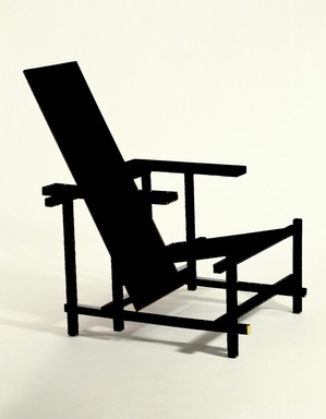 Gerrit Th. Rietveld (Dutch, 1888-1964). Armchair, ca. 1917-1918. Painted beechwood, 33 1/2 x 26 x 26 in. (85.1 x 66 x 66 cm). Brooklyn Museum, Designated Purchase Fund, 71.73. Creative Commons-BY