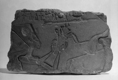 Nefertiti, ca. 1352-1336 B.C.E. Limestone, painted, 9 1/4 x 15 3/16 in. (23.5 x 38.5 cm). Brooklyn Museum, Charles Edwin Wilbour Fund, 71.89. Creative Commons-BY