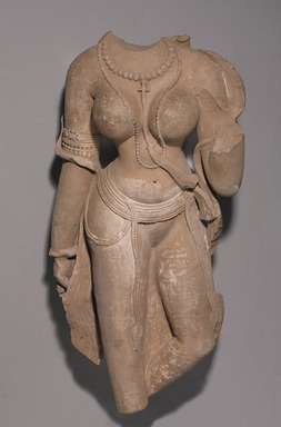 Female Torso, 9th-10th century C.E. Sandstone, overall: 29 1/2 x 15 x 10 in., 155 lb. (74.9 x 38.1 x 25.4 cm, 70.31 kg). Brooklyn Museum, Gift of Mr. and Mrs. Richard Shields, 71.9. Creative Commons-BY