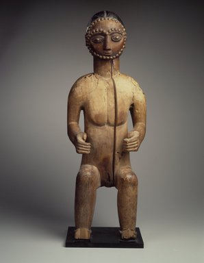 Brooklyn Museum: Seated Male Figure