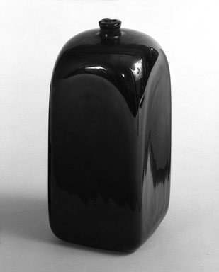 Brooklyn Museum: One of Two Square Bottles in Art Deco Style
