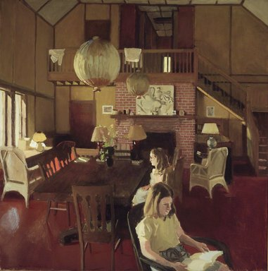 Fairfield Porter (American, 1907-1975). Interior in Sunlight, 1965. Oil on canvas, 45 x 45 in. (114.3 x 114.3 cm). Brooklyn Museum, Gift of Mr. and Mrs. John Koch, 72.135. © Estate of Fairfield Porter