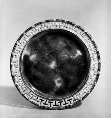 Wedgwood (1759-present). Plate, ca. 1867. Earthenware, tortoise shell glaze, Diam: 8 3/4 in. (22.2 cm). Brooklyn Museum, Gift of John M. Schreiber in memory of Marc L. Rasbach, Jr., 72.183.1. Creative Commons-BY