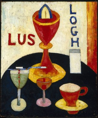 Marsden Hartley (American, 1877-1943). Handsome Drinks, 1916. Oil on composition board, 24 x 20 in. (61 x 50.8 cm). Brooklyn Museum, Gift of Mr. and Mrs. Milton Lowenthal, 72.3