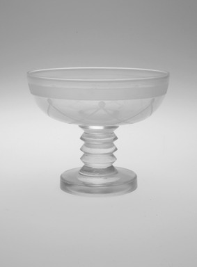 """Steuben Glass, a division of Corning Glass Works, 1903-2011. Champagne Glass,"""" St. Tropez,""""  Part of Nine-Piece Setting, ca.1933. Glass, 3 3/8 x 4 x 4 in. (8.6 x 10.2 x 10.2 cm). Brooklyn Museum, H. Randolph Lever Fund, 72.40.17. Creative Commons-BY"""