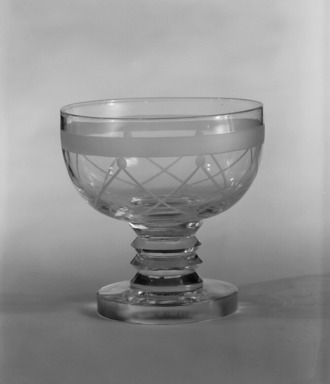 """Steuben Glass, a division of Corning Glass Works, 1903-2011. Cocktail Glass, """"St Tropez,"""" Part of Nine-Piece Setting, ca.1933. Glass, 3 1/2 x 3 1/2 x 3 1/2 in. (8.9 x 8.9 x 8.9 cm). Brooklyn Museum, H. Randolph Lever Fund, 72.40.19. Creative Commons-BY"""