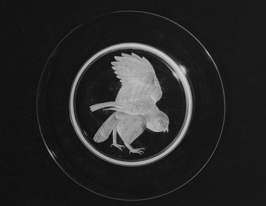 Walter Dorwin Teague (American, 1883-1960). Audubon Plate, ca. 1933. Glass, 3/4 x 10 x 10 in. (1.9 x 25.4 x 25.4 cm). Brooklyn Museum, H. Randolph Lever Fund, 72.40.6. Creative Commons-BY