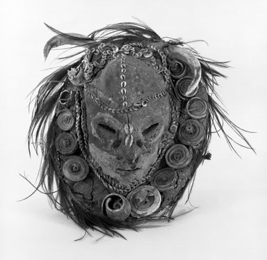 Poro Polo Mask. Clay, basket weave Brooklyn Museum, Gift of David R. Markin, 72.49.5. Creative Commons-BY