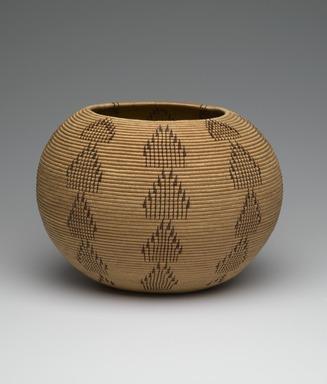 Louisa Keyser (Dat So La Lee) (Washo, Native American, 1850-1925). Basketry Vessel, 1900. Willow, bracken fern, red bud, 8 x 10 1/2 x 10 1/2 in. (20.3 x 26.7 x 26.7 cm). Brooklyn Museum, By exchange, 72.5.2. Creative Commons-BY