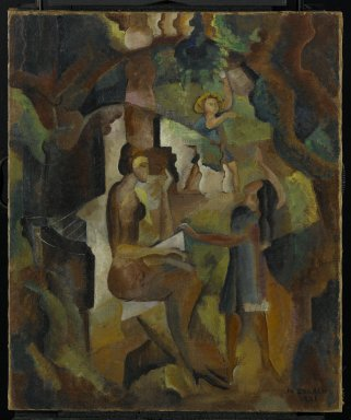 Marguerite Thompson Zorach (American, 1887-1968). Memories of My California Childhood, 1921. Oil on canvas, 30 1/2 x 25 1/8 in. (77.5 x 63.8 cm). Brooklyn Museum, Gift of Dr. Robert L. Leslie in memory of Dr. Sarah K. Greenberg, 72.99