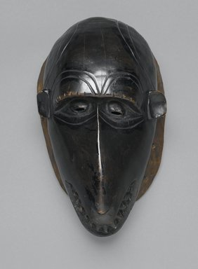 Guro. Baboon (Dje) Mask, late 19th-early 20th century. Wood, organic materials, Other: 13 x 3 1/2 x 3 1/2in. (33 x 8.9 x 8.9cm). Brooklyn Museum, Gift of Mr. and Mrs. John A. Friede, 73.107.8. Creative Commons-BY