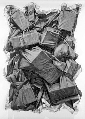 John Salt (British, born 1937). Desert Wreck, 1972. Lithograph on paper, sheet: 25 3/8 x 35 5/8 in. (64.5 x 90.5 cm). Brooklyn Museum, Designated Purchase Fund, 73.11h. © John Salt