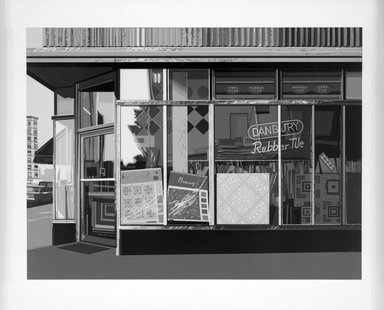 Richard Estes. Danbury Tiles, 1972. Screenprint, Image: 14 7/8 x 20 in. (37.8 x 50.8 cm). Brooklyn Museum, 73.12. © Richard Estes courtesy Marlborogh Gallery, New York