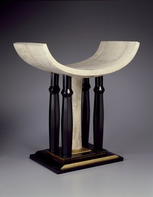 Pierre Legrain (French, 1889-1929). Stool (Tabouret), ca. 1923. Wood, lacquer, sharkskin, 22 1/8 x 21 x 14 in. (56.2 x 53.3 x 35.6 cm). Brooklyn Museum, Purchased with funds given by an anonymous donor, 73.142. Creative Commons-BY
