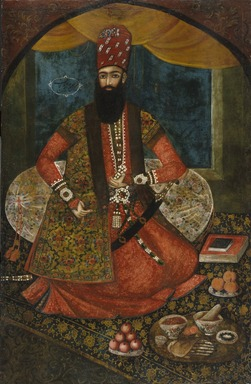 Portrait of an Emir, 1855. Oil on cotton, 59 x 37 in. (149.9 x 94 cm). Brooklyn Museum, Gift of Mr. and Mrs. Charles K. Wilkinson, 73.145