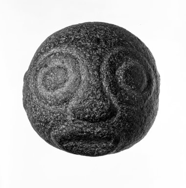 Stone Face, late 19th or early 20th century. Stone, circumference:  9 in. (22.9 cm). Brooklyn Museum, Gift of Dr. and Mrs. Abbott A. Lippman, 73.154.3. Creative Commons-BY