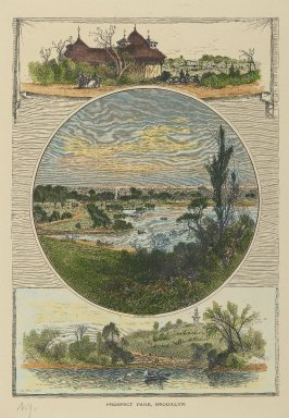 J. D. Woodward. Prospect Park, Brooklyn, 19th century. Hand-colored engraving on paper, sheet: 13 x 9 7/8 in. (33 x 25.1 cm). Brooklyn Museum, Gift of Mrs. Tracy S. Voorhees, 73.162