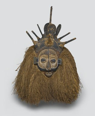 Yaka. Ndeemba Mask for N-khanda Initiation, early 20th century. Wood, fiber, pigment, 20 x 14 3/4 x 14 1/2 in. (50.8 x 37.5 x 36.8 cm). Brooklyn Museum, Gift of Gaston T. de Havenon, 73.179.3. Creative Commons-BY