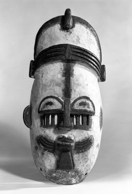 Edo. Ekpo Face Mask of a Chief, late 19th or early 20th century. Wood, pigment, metal, 14 1/4 x 7 1/4 x 4 1/2 in. (36.3 x 18.3 x 11.5 cm). Brooklyn Museum, Gift of Gaston T. de Havenon, 73.179.9. Creative Commons-BY