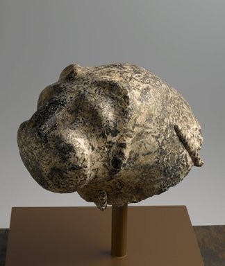 Lion, ca. 3300-3100 B.C.E. Pegmatite, 9 3/4 x 7 7/8 x 12 13/16 in., 42 lb. (24.8 x 20 x 32.5 cm, 19.05kg). Brooklyn Museum, Charles Edwin Wilbour Fund, 73.26. Creative Commons-BY