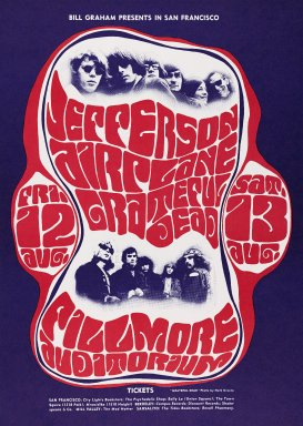 Wes Wilson (American, born 1937). [Untitled] (Jefferson Airplane/Grateful Dead), 1966. Offset lithograph on paper, sheet: 19 7/8 x 14 1/8 in. (50.5 x 35.9 cm). Brooklyn Museum, Designated Purchase Fund, 73.39.23. © Wes Wilson