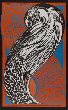 Wes Wilson (American, born 1937). [Untitled] (Byrds/Moby Grape), 1967. Offset lithograph on paper, sheet: 22 1/4 x 13 3/4 in. (56.5 x 34.9 cm). Brooklyn Museum, Designated Purchase Fund, 73.39.59. ©Bill Graham Archives, LLC, www.Wolfgangsvault.com