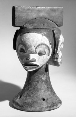 Idoma. Headdress with Multiple Faces, early 20th century. Wood, pigment, 11 1/4  x 6 1/4 in. (28.5 x 16.0 cm). Brooklyn Museum, Gift of Mr. and Mrs. Joseph Gerofsky, 73.9.2. Creative Commons-BY