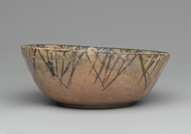 Bowl with Blessings, 10th century. Ceramic; earthenware, painted in black slip and green and yellow pigments under a transparent glaze, 2 13/16 x 7 1/2 in. (7.1 x 19.1 cm). Brooklyn Museum, Gift of Mr. and Mrs. Charles K. Wilkinson, 73.94.3. Creative Commons-BY