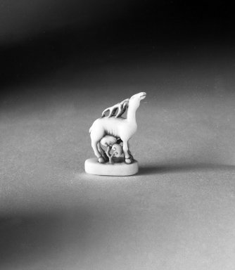 Netsuke Depicting Deer, Bat, and Fungus, 19th century. Ivory, 1 3/8in. (3.5cm). Brooklyn Museum, Gift of Mr. and Mrs. Burton Krouner, 74.103.52. Creative Commons-BY