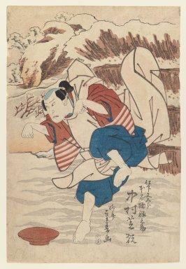 Shigeharu (1803-1853). The Actor Nakamura Shikan in a Kabuki Role, 1830. Woodblock print, 14 7/8 x 10 1/4 in. (37.8 x 26 cm). Brooklyn Museum, Gift of Dr. Israel Samuelly, 74.104.1