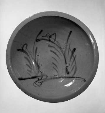 Herring Plate, ca. 1840. Glazed stoneware; Seto ware, 3 5/8 x 14 1/4 in. (9.2 x 36.2 cm). Brooklyn Museum, Designated Purchase Fund, 74.108.2. Creative Commons-BY