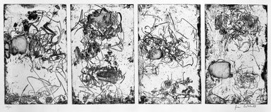 Joan Mitchell (American, 1925-1992). Sunflower IV, 1972. Etching (quadrifid) on paper, sheet (each): 25 x 35 1/4 in. (63.5 x 89.5 cm). Brooklyn Museum, Designated Purchase Fund, 74.136. © Estate of Joan Mitchell