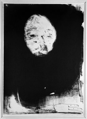 Nathan Oliveira (American, born 1928). Head, 1969. Lithograph on paper, 28 1/8 x 20 1/8 in. (71.4 x 51.1 cm). Brooklyn Museum, Gift of Mr. and Mrs. Samuel Dorsky, 74.178.56. © Nathan Oliveira