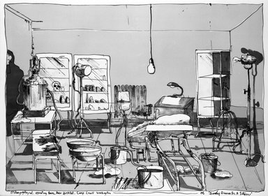 Robert Andrew Parker (American, born 1927). Sunday Dinner for a Soldier, n.d. Lithograph on paper, sheet: 22 1/8 x 30 in. (56.2 x 76.2 cm). Brooklyn Museum, Gift of Mr. and Mrs. Samuel Dorsky, 74.178.58. © Robert Andrew Parker