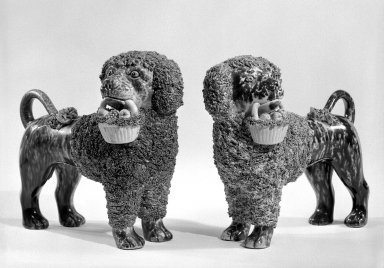Figure of a Poodle, ca. 1849-1858. Stoneware, 21 5/16 x 9 1/2 in. (54.1 x 24.1 cm). Brooklyn Museum, H. Randolph Lever Fund, 74.19.2. Creative Commons-BY