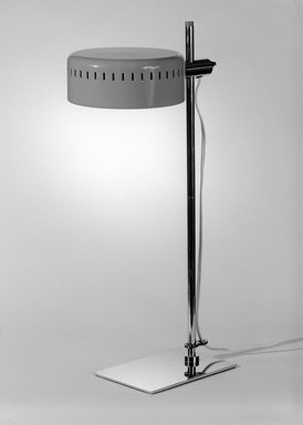 Robert Sonneman Associates, Inc.. Desk Lamp, ca. 1970. Chromium, enameled metal, plastic, 19 3/4 x 6 1/4 x 10 1/4 in. (50.2 x 15.9 x 26 cm). Brooklyn Museum, Gift of Bonniers, Incorporated, 74.192.2. Creative Commons-BY