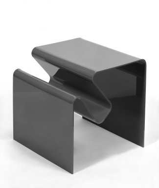 Andrew Ivar Morrison (American, born 1939). Magazine Table/Rack, ca. 1965. Molded plastic, 17 3/4 x 18 x 17 1/2 in. (45.1 x 45.7 x 44.5 cm). Brooklyn Museum, Gift of Stendig, Inc., 74.194.1. Creative Commons-BY