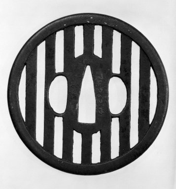 Tsuba (Sword Guard), 17th-18th century. Black-patinated iron
