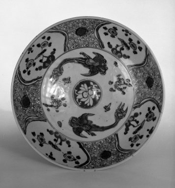 Plate, ca. 1600. Swatow ware