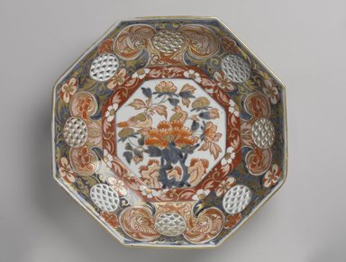 Dish, 17th-18th century. Porcelain, Ko-Imari ware, 2 1/4 x 11 1/4 in. (5.7 x 28.6 cm). Brooklyn Museum, Purchased with funds given by Mr. and Mrs. Harry Kahn, 74.55.4. Creative Commons-BY