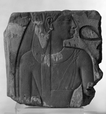 Egyptian. Relief Fragment of Shepenwepet II, ca. 700 B.C.E. Sandstone, 11 7/16 x 11 5/8 x 2 3/16 in. (29.1 x 29.6 x 5.6 cm). Brooklyn Museum, Charles Edwin Wilbour Fund, 74.99.2. Creative Commons-BY