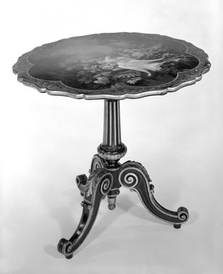 Tea Table, ca. 1850. Baluster, 45 7/8 x 29 1/2 in. (116.5 x 74.9 cm). Brooklyn Museum, Gift of Marguerite Kennelly, 75.109. Creative Commons-BY