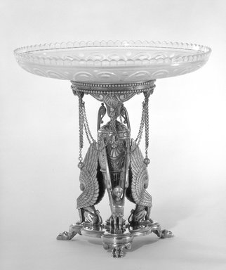 Elkington and Company (ca. 1835 - 1963). Compote and Stand, ca. 1866. Silver, gilt Brooklyn Museum, Gift of Mrs. D. Chester Noyes, 75.110.7a-e. Creative Commons-BY