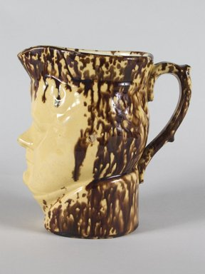 Ralph B. Beach. Pitcher, ca. 1848- 1890. Earthenware, 7 3/16 in. (18.3 cm). Brooklyn Museum, H. Randolph Lever Fund, 75.112.2. Creative Commons-BY