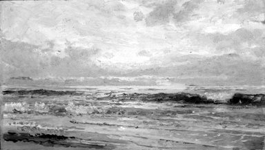 William Trost Richards (American, 1833-1905). Marine: Oil Sketch, 1880-1890. Oil on panel, Frame: 16 x 14 in. (40.6 x 35.6 cm). Brooklyn Museum, Gift of Edith Ballinger Price, 75.12.4