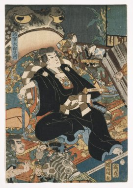 Kunichika Toyohara (Japanese, 1835-1900). Yoshikado Visiting the Old temple at Soma, 1858. Woodblock print (in color), Each sheet: 13 11/16 x 9 11/16 in. (34.8 x 24.6 cm). Brooklyn Museum, Gift of The Honorable and Mrs. Richard Palmer, 75.121