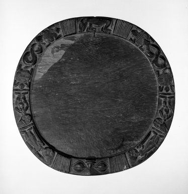 Yoruba. Divination Tray (Opon Ifa), Early 20th century. Wood, pigment, 17 1/2  x  1 3/8 in. Brooklyn Museum, Gift of Dr. Ernst Anspach, 75.147.1. Creative Commons-BY