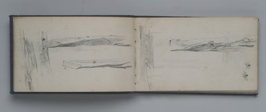 William Trost Richards (American, 1833-1905). Sketchbook, Landscape, Tree and Plant Studies, Some Figures, Germantown, Pennsylvania Area, ca. 1860. Graphite on paper, 4 1/8 x 6 7/8 in. (10.5 x 17.5 cm). Brooklyn Museum, Gift of Edith Ballinger Price, 75.15.11