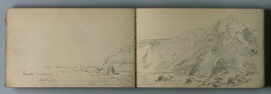 William Trost Richards (American, 1833-1905). Sketchbook, Tonal Sketches of Landscape, Coastal and Marine Subjects in Different Weather Conditions, ca. 1890. Graphite on paper, 5 x 7 7/16 in. (12.7 x 18.9 cm). Brooklyn Museum, Gift of Edith Ballinger Price, 75.15.12